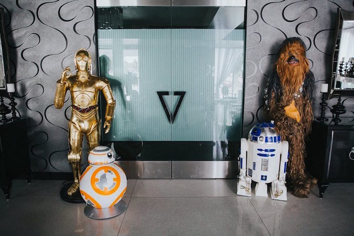 Star Wars Character Props from a Galactic Star Wars Themed Birthday Party via Kara's Party Ideas   KarasPartyIdeas.com (36)