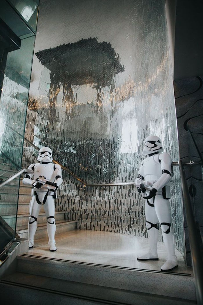 Storm Trooper Props from a Galactic Star Wars Themed Birthday Party via Kara's Party Ideas   KarasPartyIdeas.com (7)