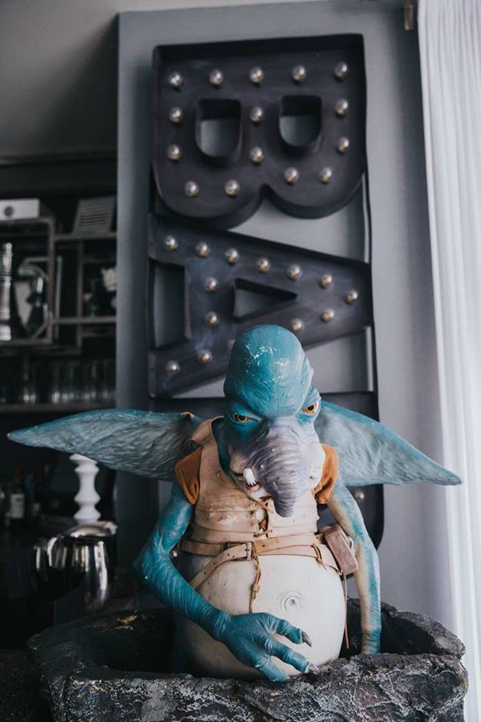 Watto Party Prop + Character from a Galactic Star Wars Themed Birthday Party via Kara's Party Ideas | KarasPartyIdeas.com (6)