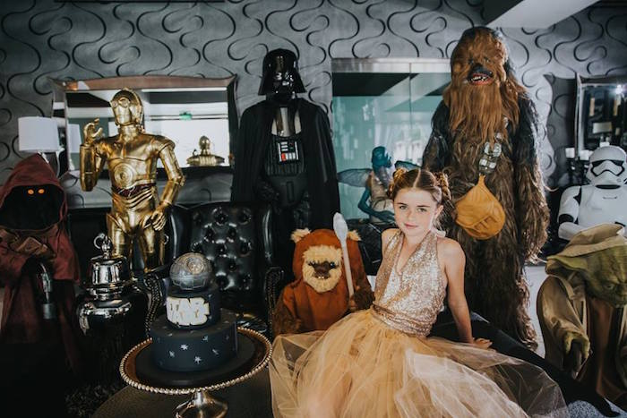 Characters + Props from a Galactic Star Wars Themed Birthday Party via Kara's Party Ideas | KarasPartyIdeas.com (5)