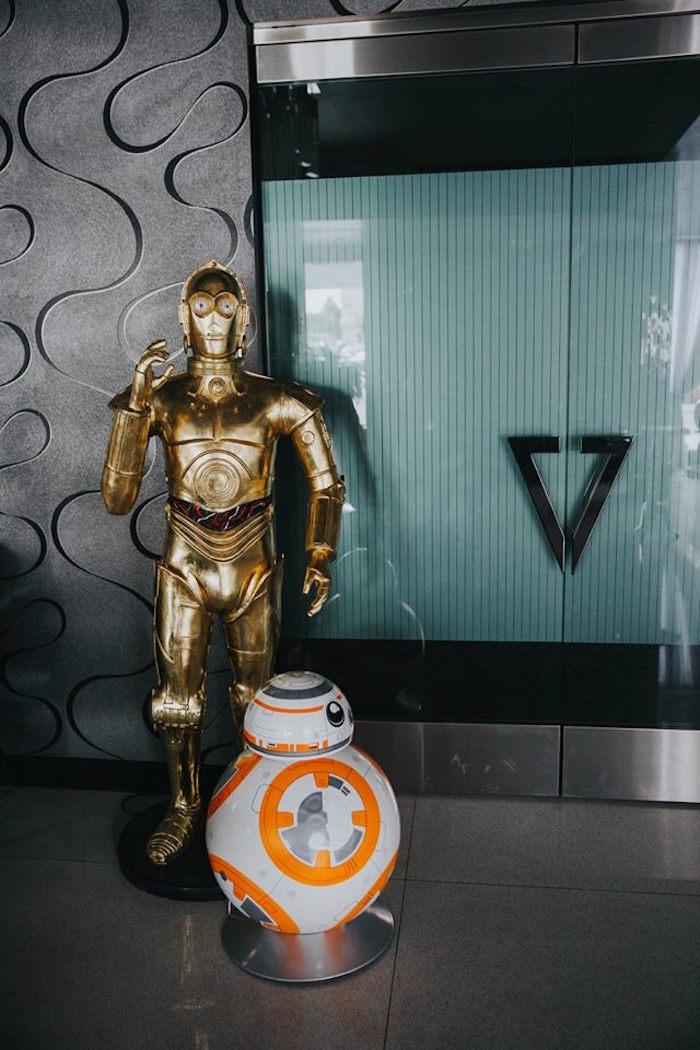 C-3PO + BB-8 Droid from a Galactic Star Wars Themed Birthday Party via Kara's Party Ideas   KarasPartyIdeas.com (4)