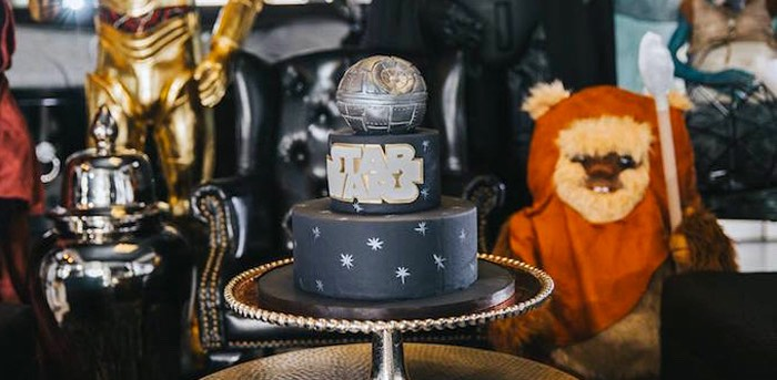 Cake from a Galactic Star Wars Themed Birthday Party via Kara's Party Ideas | KarasPartyIdeas.com (1)