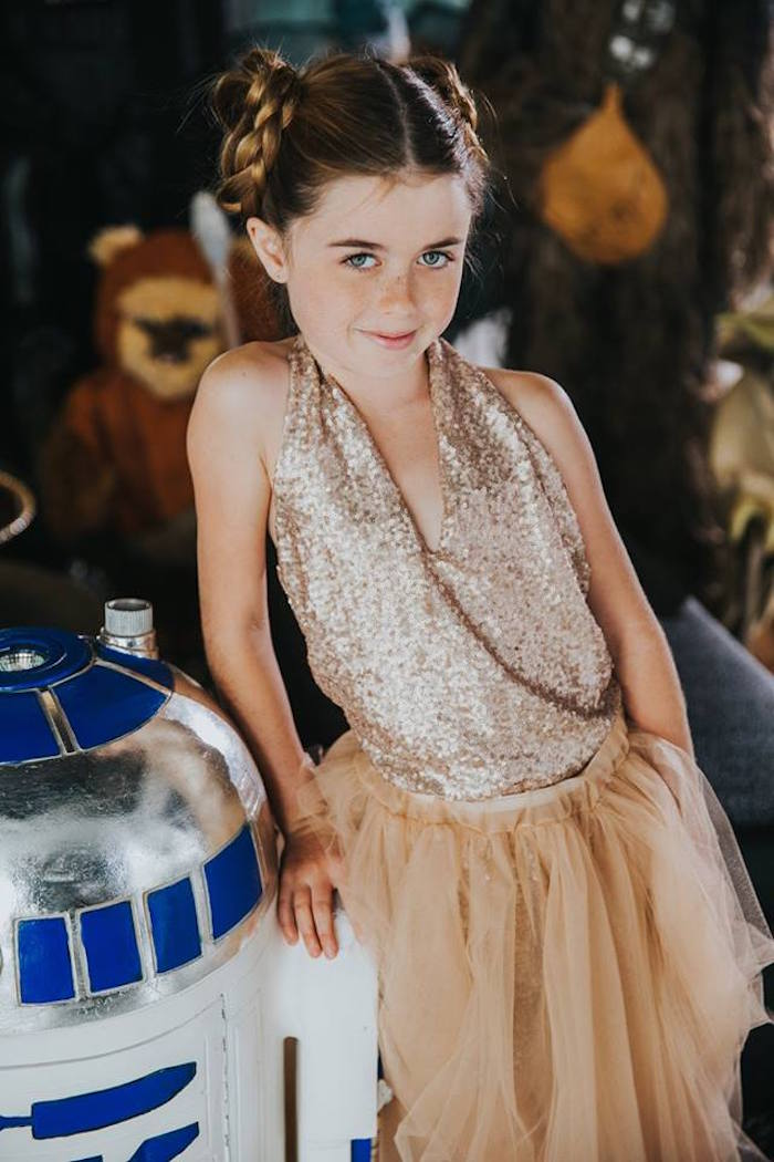 Galactic Princess from a Galactic Star Wars Themed Birthday Party via Kara's Party Ideas   KarasPartyIdeas.com (32)
