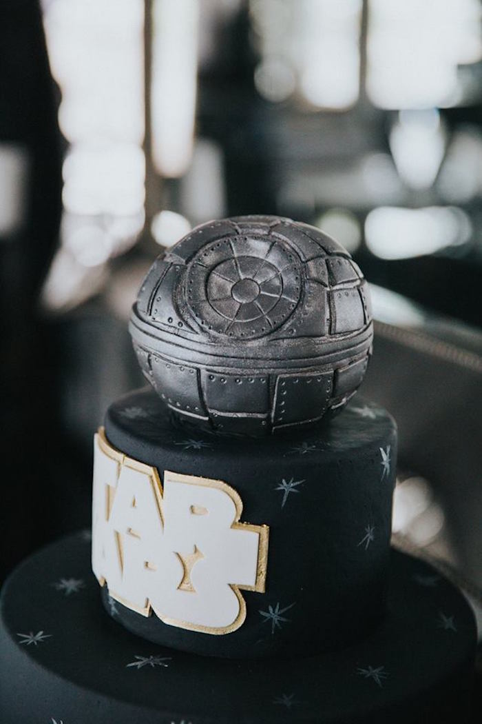 Top view of the Cake from a Galactic Star Wars Themed Birthday Party via Kara's Party Ideas   KarasPartyIdeas.com (29)