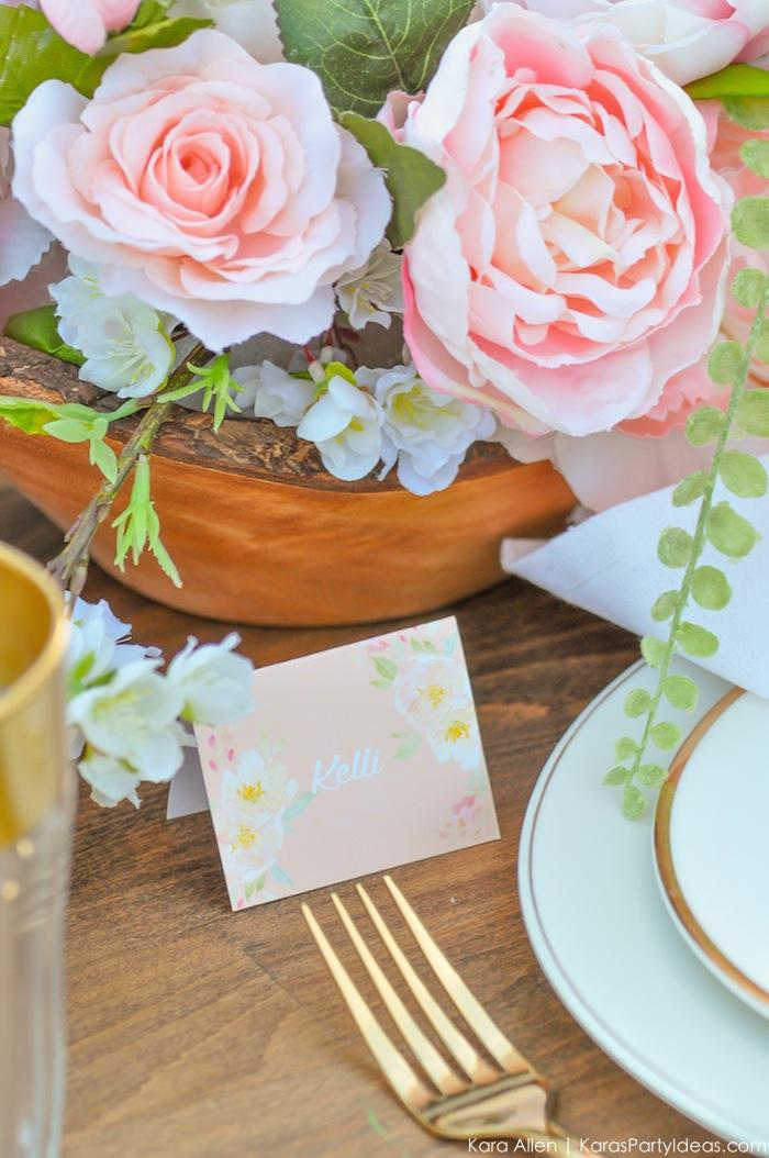 Garden Party Tablescape by Kara Allen | Kara's Party Ideas | KarasPartyIdeas.com for Canon-37