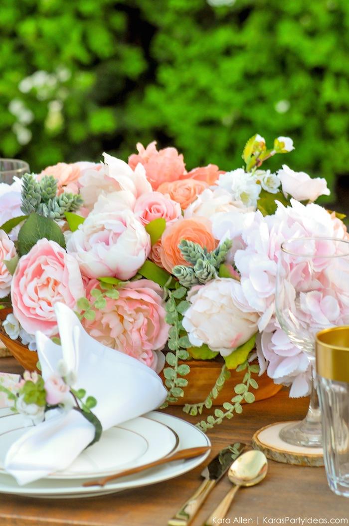 Garden Party Tablescape by Kara Allen | Kara's Party Ideas | KarasPartyIdeas.com for Canon-41