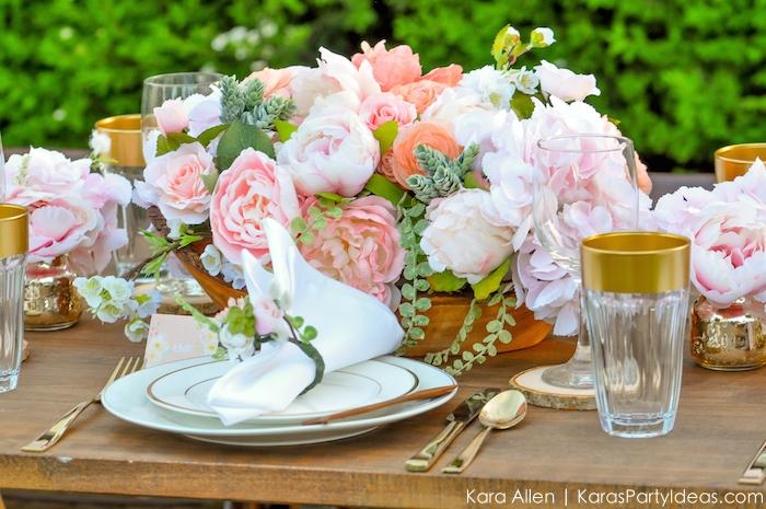 Garden Party Tablescape by Kara Allen | Kara's Party Ideas | KarasPartyIdeas.com for Canon-42