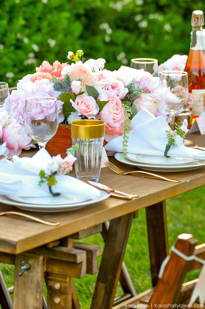 Garden Party Tablescape by Kara Allen | Kara's Party Ideas | KarasPartyIdeas.com for Canon-50