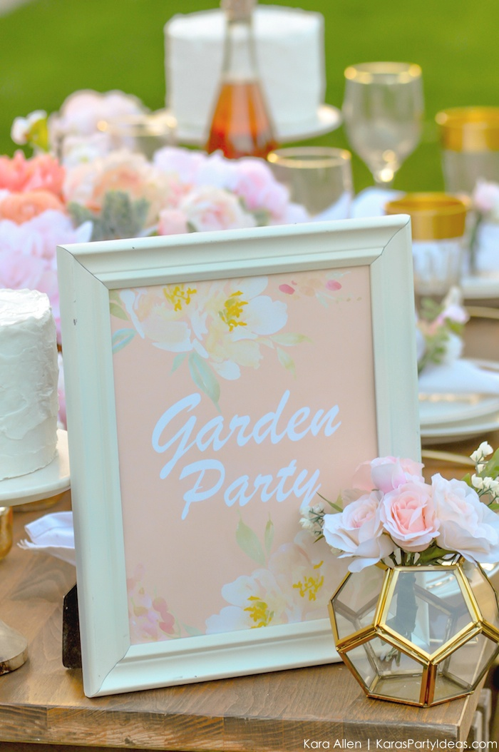 Garden Party Tablescape by Kara Allen | Kara's Party Ideas | KarasPartyIdeas.com for Canon-74