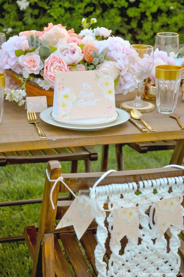 Garden Party Tablescape by Kara Allen | Kara's Party Ideas | KarasPartyIdeas.com for Canon-93