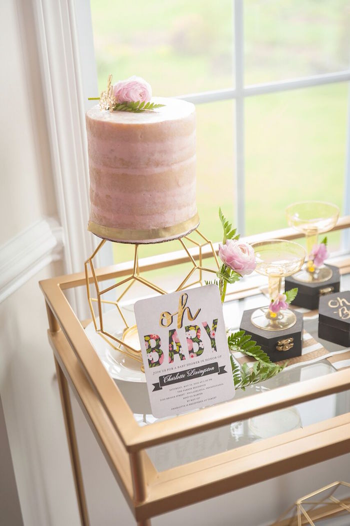Kara S Party Ideas Geometric Floral Baby Shower Kara S