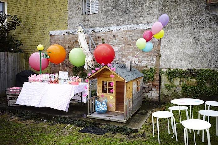 Party Display Setup From A Girly Sesame Street Via Karas Ideas KarasPartyIdeas