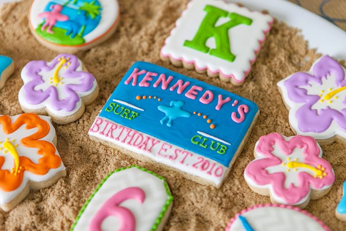 Cookie/Cookies from a Girly Surfing Party via Kara's Party Ideas | The Place for All Things Party! KarasPartyIdeas.com (47)