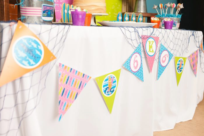 Banner from a Girly Surfing Party via Kara's Party Ideas | The Place for All Things Party! KarasPartyIdeas.com (40)