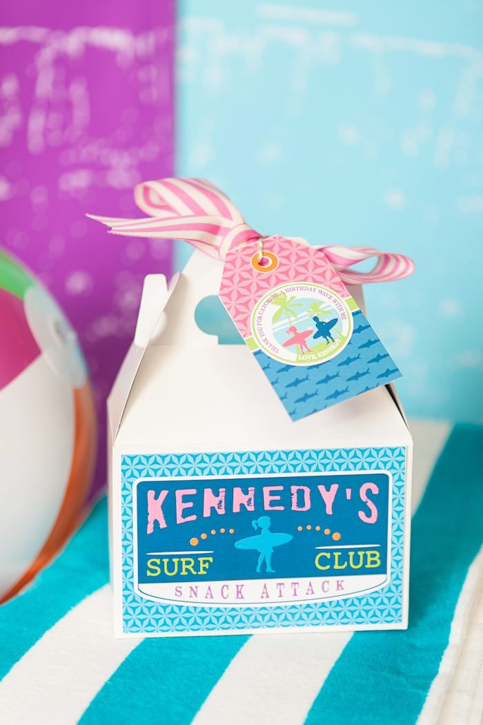 Gable Lunch + Favor Box from a Girly Surfing Party via Kara's Party Ideas | The Place for All Things Party! KarasPartyIdeas.com (21)