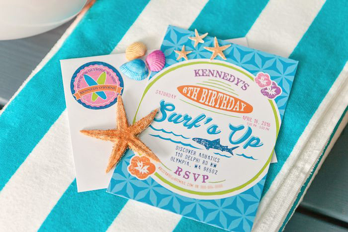 Invitation from a Girly Surfing Party via Kara's Party Ideas | The Place for All Things Party! KarasPartyIdeas.com (19)