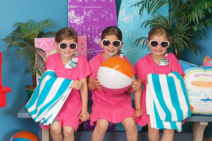 Party Girls from a Girly Surfing Party via Kara's Party Ideas | The Place for All Things Party! KarasPartyIdeas.com (12)