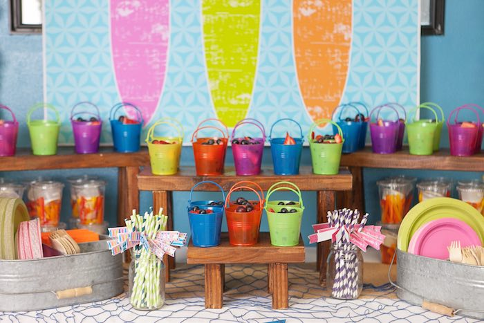 Food Table Detail from a Girly Surfing Party via Kara's Party Ideas | The Place for All Things Party! KarasPartyIdeas.com (5)