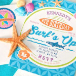 Invitation from a Girly Surfing Party via Kara's Party Ideas | The Place for All Things Party! KarasPartyIdeas.com (1)