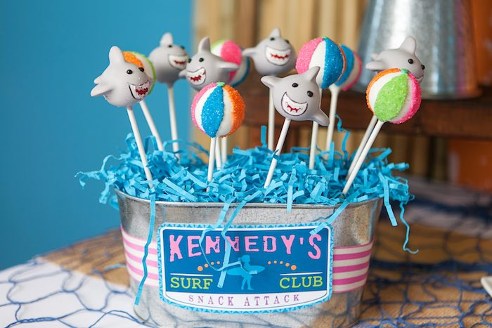 Cake Pops from a Girly Surfing Party via Kara's Party Ideas | The Place for All Things Party! KarasPartyIdeas.com (52)