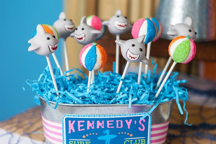 Cake Pops from a Girly Surfing Party via Kara's Party Ideas | The Place for All Things Party! KarasPartyIdeas.com (51)