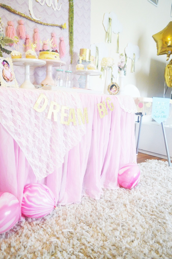 Sweet Table Detail from a Glamorous Boho Birthday Party via Kara's Party Ideas! KarasPartyIdeas.com (18)