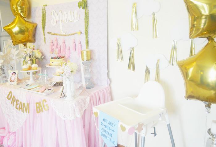 Party Setup from a Glamorous Boho Birthday Party via Kara's Party Ideas! KarasPartyIdeas.com (16)