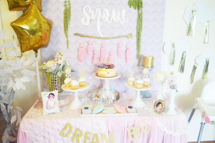 Dessert Table from a Glamorous Boho Birthday Party via Kara's Party Ideas! KarasPartyIdeas.com (14)