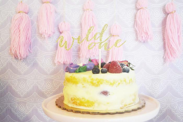 Cake from a Glamorous Boho Birthday Party via Kara's Party Ideas! KarasPartyIdeas.com (13)