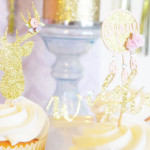 Cupcakes from a Glamorous Boho Birthday Party via Kara's Party Ideas! KarasPartyIdeas.com (3)