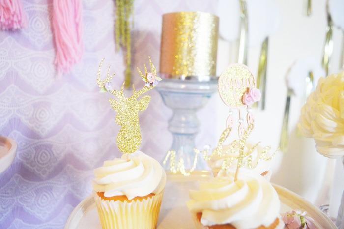 Cupcakes from a Glamorous Boho Birthday Party via Kara's Party Ideas! KarasPartyIdeas.com (25)