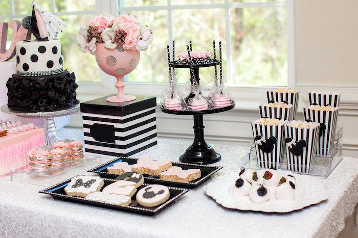 Sweet Table Details from a Glamorous Minnie Mouse Birthday Party via Kara's Party Ideas KarasPartyIdeas.com (19)