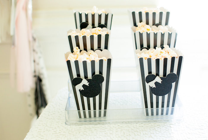 Popcorn Boxes from a Glamorous Minnie Mouse Birthday Party via Kara's Party Ideas KarasPartyIdeas.com (17)