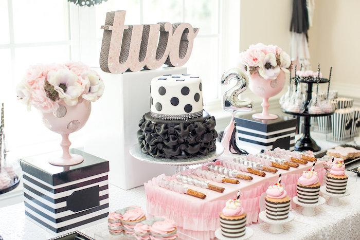 Kara S Party Ideas Glamorous Minnie Mouse Birthday Party