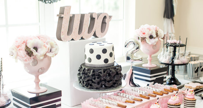 Sweet Table Details from a Glamorous Minnie Mouse Birthday Party via Kara's Party Ideas KarasPartyIdeas.com (1)
