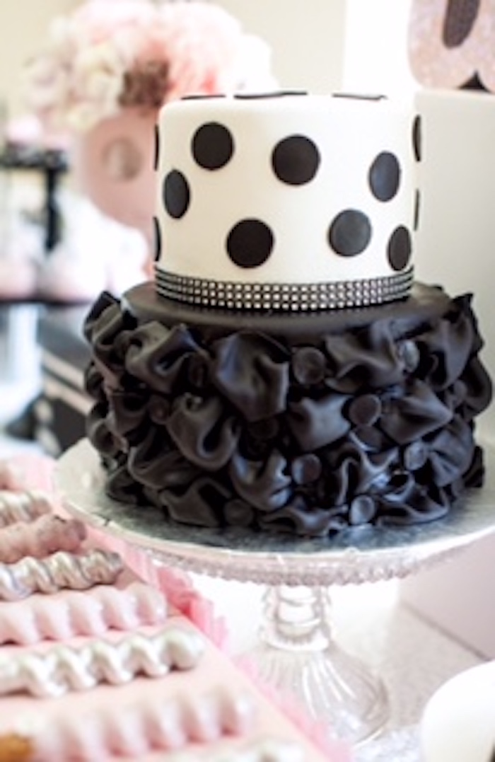 Cake from a Glamorous Minnie Mouse Birthday Party via Kara's Party Ideas KarasPartyIdeas.com (25)