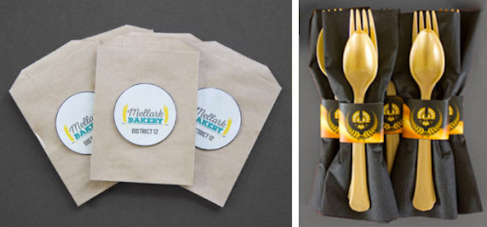 Pastry Sacks + Utensil Packs from a Hunger Games Tween/Teen Birthday Party via Kara's Party Ideas | KarasPartyIdeas.com (9)