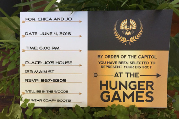 Invitation from a Hunger Games Tween/Teen Birthday Party via Kara's Party Ideas | KarasPartyIdeas.com (8)