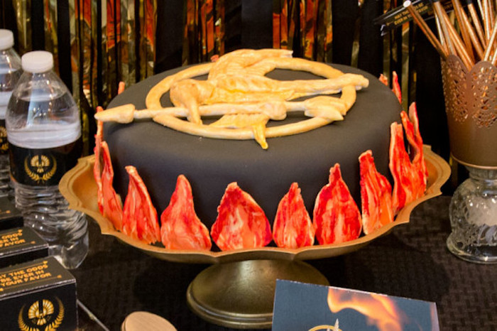 Cake from a Hunger Games Tween/Teen Birthday Party via Kara's Party Ideas | KarasPartyIdeas.com (7)