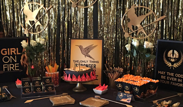 Dessert Table from a Hunger Games Tween/Teen Birthday Party via Kara's Party Ideas | KarasPartyIdeas.com (2)