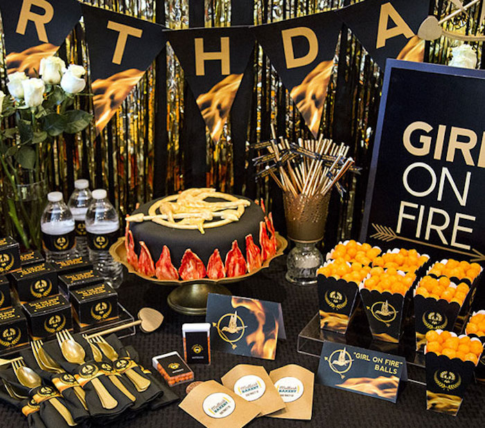 Head Table from a Hunger Games Tween/Teen Birthday Party via Kara's Party Ideas | KarasPartyIdeas.com (18)
