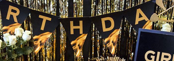 Banner from a Hunger Games Tween/Teen Birthday Party via Kara's Party Ideas | KarasPartyIdeas.com (11)