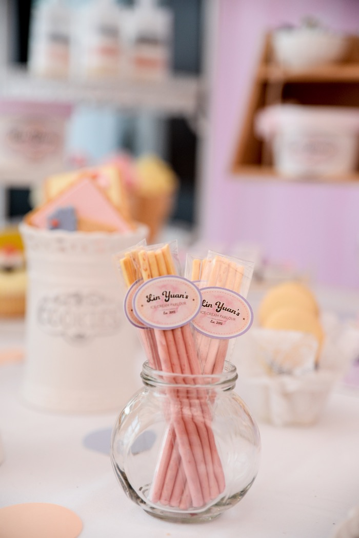 Favor Sticks from an Ice Cream Parlor Birthday Party via Kara's Party Ideas - KarasPartyIdeas.com (8)