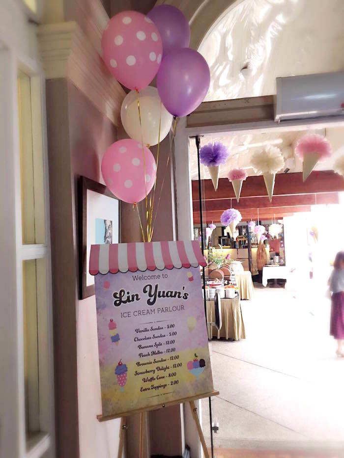 Entrance Sign from an Ice Cream Parlor Birthday Party via Kara's Party Ideas - KarasPartyIdeas.com (25)