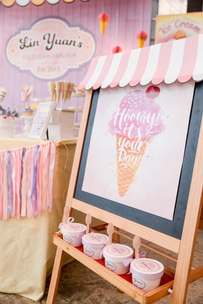 Karas Party Ideas Ice Cream Parlor Birthday Karas Party Ideas