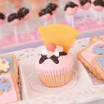 Cupcake + Cookies from an Ice Cream Parlor Birthday Party via Kara's Party Ideas - KarasPartyIdeas.com (4)