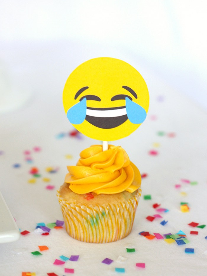 Tears of Joy Emoji from an Instagram Emoji Themed Teen Birthday Party via Kara's Party Ideas - The Place for All Things Party! KarasPartyIdeas.com (19)