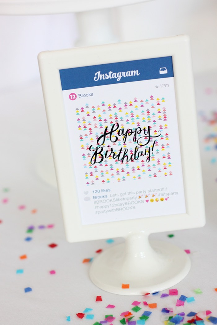 Sign from an Instagram Emoji Themed Teen Birthday Party via Kara's Party Ideas - The Place for All Things Party! KarasPartyIdeas.com (14)