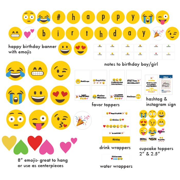 Printables + Stationery from an Instagram Emoji Themed Teen Birthday Party via Kara's Party Ideas - The Place for All Things Party! KarasPartyIdeas.com (2)