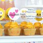 Cupcakes from an Instagram Emoji Themed Teen Birthday Party via Kara's Party Ideas - The Place for All Things Party! KarasPartyIdeas.com (1)